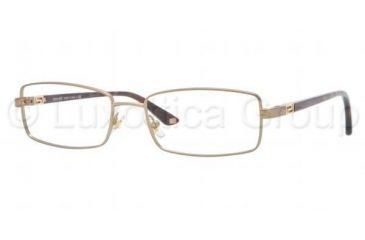Versace VE1204 Single Vision Prescription Eyeglasses 1325-5417 - Matte Brass Frame