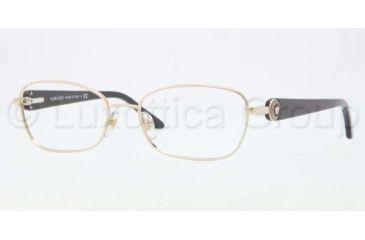 Versace VE1210 Single Vision Prescription Eyeglasses 1252-5416 - Light Gold Frame