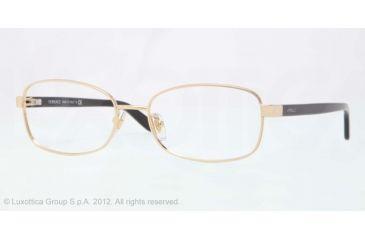 Versace VE1213 Eyeglass Frames 1002-53 - Gold Frame, Demo Lens Lenses