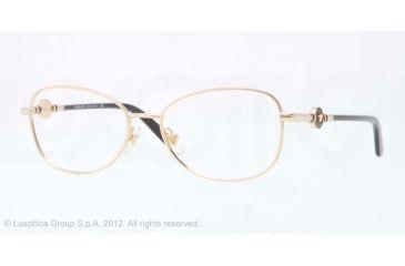Versace VE1214 Eyeglass Frames 1002-52 - Gold Frame, Demo Lens Lenses