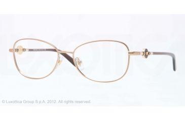 Versace VE1214 Eyeglass Frames 1304-52 - Brown Frame, Demo Lens Lenses
