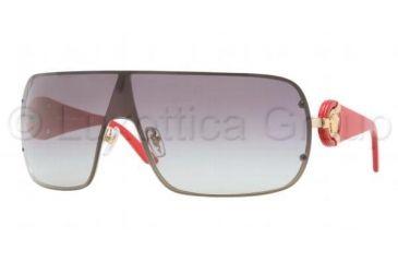 Versace VE2126 Sunglasses 100211-0143 - Gold Frame, Gray Gradient Lenses