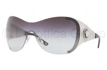 Versace VE2135B Sunglasses 10008G-0138 - Silver Frame, Gray Gradient Lenses