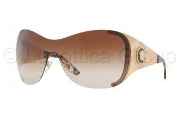 Versace VE2135B Sunglasses 100213-0138 - Gold Frame, Brown Gradient Lenses