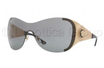 Versace VE2135B Sunglasses 100287-0138 - Gold Frame, Gray Lenses