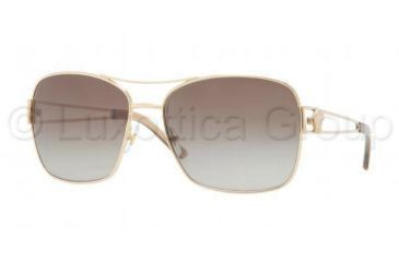 Versace VE2138 Sunglasses 100213-5916 - Gold Frame, Brown Gradient Lenses