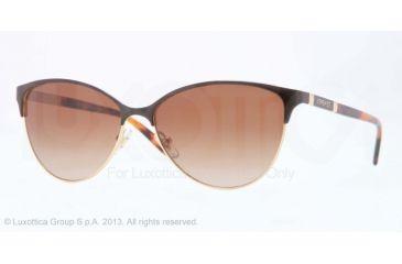 Versace VE2148 Sunglasses 100213-57 - Gold Frame, Brown Gradient Lenses