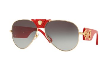 8d39ea3b184 Versace VE2150Q Sunglasses 100211-62 - Gold Frame