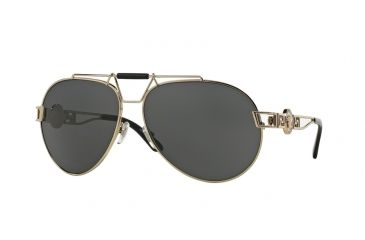 9ff658bfb8f5c Versace VE2160 Sunglasses 125287-63 - Pale Gold Frame