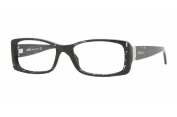 Versace VE3138 #883 - Striped Black Demo Lens Frame