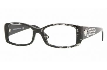 Versace VE3139B #883 - Black Spotted Crystal Demo Lens Frame