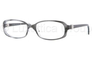 Versace VE3149B Eyeglass Frames 933-5217 - Crystal Rule Black