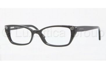 Versace VE3150B Progressive Prescription Eyeglasses GB1-5116 - Shiny Black
