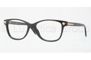 Versace VE3153 Progressive Prescription Eyeglasses 945-5116 - Shiny Black