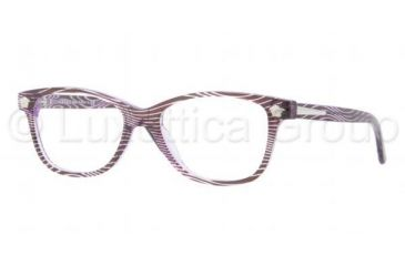 Versace VE3153 Progressive Prescription Eyeglasses 958-5116 - Waves Violet Frame, Demo Lens Lenses
