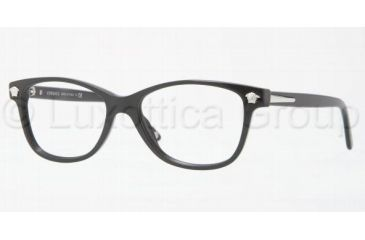 Versace VE3153 Single Vision Prescription Eyewear GB1-5116 - Shiny Black