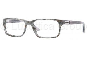 Versace VE3154 Progressive Prescription Eyeglasses 939-5217 - Striped Gray Demo Lens Frame