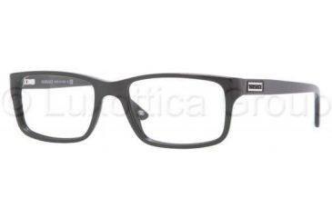 Versace VE3154 Progressive Prescription Eyeglasses GB1-5217 - Shiny Black Frame