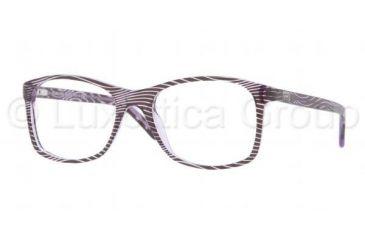 Versace VE3155 Progressive Prescription Eyeglasses 958-5017 - Waves Violet Frame, Demo Lens Lenses