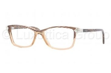 Versace VE3156 Progressive Prescription Eyeglasses 934-5115 - Waves Brown Frame, Demo Lens Lenses