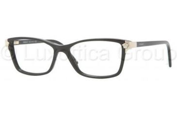 Versace VE3156 Progressive Prescription Eyeglasses GB1-5115 - Black Frame