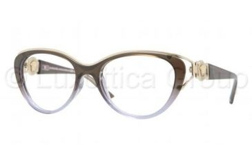 Versace VE3167 Progressive Prescription Eyeglasses 5007-5317 - Dark Steel Frame