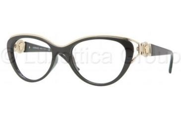 Versace VE3167 Progressive Prescription Eyeglasses GB1-5317 - Black Frame