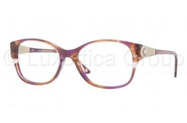 Versace VE3168B Bifocal Prescription Eyeglasses 968-5217 - Striped Violet Frame