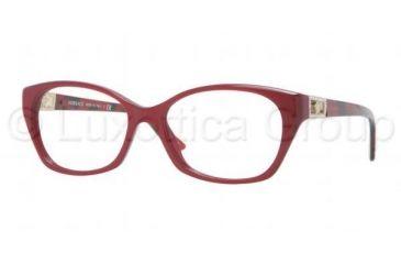 Versace VE3170B Eyeglass Frames 5026-5216 - Bordeaux Pearl Frame, Demo Lens Lenses