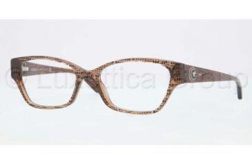 Versace VE3172 Single Vision Prescription Eyeglasses 991-5216 - Lizard Brown Frame, Demo Lens Lenses