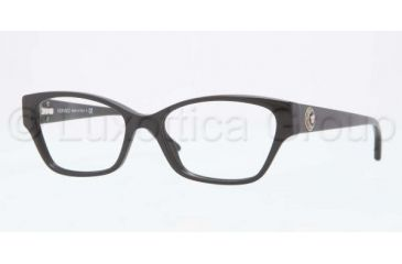 Versace VE3172 Single Vision Prescription Eyeglasses GB1-5216 - Shiny Black Frame