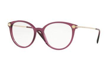 aaea83faaf Versace VE3251B Eyeglass Frames 5220-52 - Transparent   Plum Frame