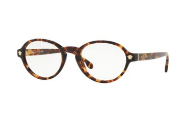 41913383888 Versace VE3259A Progressive Prescription Eyeglasses 5276-52 - Havana Frame