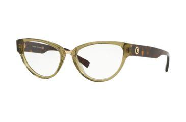 3823592a33251 Versace VE3267 Eyeglass Frames 5293-51 - Transparent Green Frame