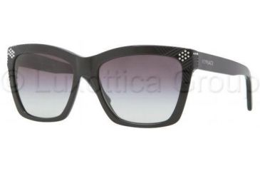 Versace VE4213B Bifocal Prescription Sunglasses VE4213B-GB1-8G-5617 - Frame Color Black, Lens Diameter 56 mm