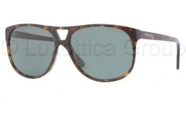 Versace VE4217 Sunglasses 108/71-5914 - Havana Frame, Green Lenses