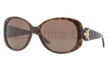 Versace VE4221 Sunglasses 108/73-5816 - Havana Frame, Brown Lenses