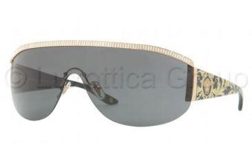 Versace VE4232B Sunglasses 500987-0138 - Gold Frame, Gray Lenses