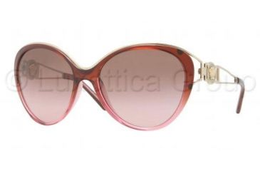 Versace VE4233 Sunglasses 500814-6017 - Brown Gradient Pink Frame, Brown Gradient Pink Lenses