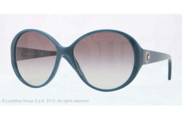 Versace VE4239 Sunglasses 505811-58 - Petroleum Blue Frame, Gray Gradient Lenses
