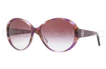 Versace VE4239 Sunglasses 968/8H-5815 - Striped Violet Frame, Violet Gradient Lenses