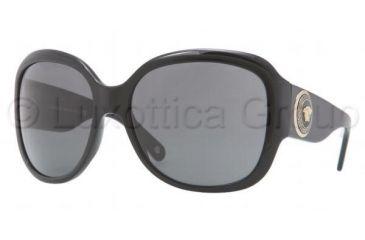 Versace VE4243 Sunglasses GB1/87-6217 - Black Frame, Gray Lenses