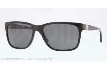 Versace VE4249 Single Vision Prescription Sunglasses VE4249-GB1-87-58 - Lens Diameter 58 mm, Lens Diameter 58 mm, Frame Color Shiny Black