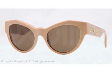 Versace VE4253 Progressive Prescription Sunglasses VE4253-507473-53 - Lens Diameter 53 mm, Frame Color Beige
