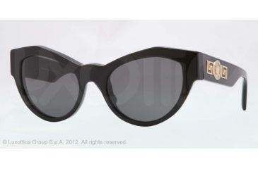 Versace VE4253 Progressive Prescription Sunglasses VE4253-GB1-87-53 - Lens Diameter 53 mm, Frame Color Black