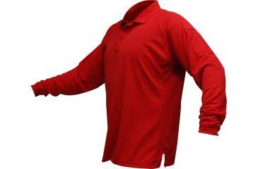 Vertx Men's Coldblack Long Sleeve Polo Shirt, Red, Size 2XL VTX4020RDP-2XL