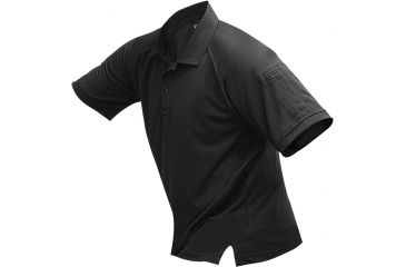 Vertx Men's Coldblack Short Sleeve Polo Shirt, Black, Size 2XL VTX4000BKP-2XL
