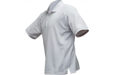 Vertx Men's Coldblack Short Sleeve Polo Shirt, White, Size 2XL VTX4000WHP-2XL