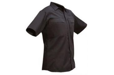 Vertx Men's OA Duty Wear Short Sleeve Shirt, Black, Size 2XL VTX2400BK-2XL