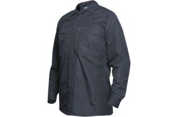 Vertx Phantom Ops L/S Zipper Shirt- Navy Ripstop 65P/35C, 2XL-Long VTX8720NV-2XL-LONG